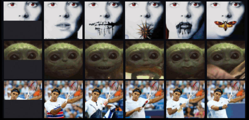 Experimental New AI Can Autocomplete Images With the Same Technology as Predictive Text