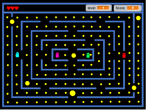 How to Code a PacMan Game (No Maze) | Intermediate Scratch Tutorial